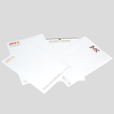 Impression papiers entête