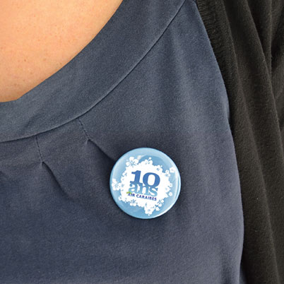 Badge bouton en situation