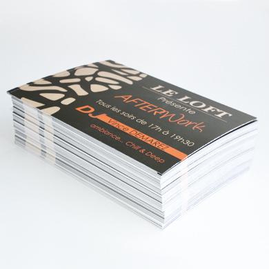 Carte d'invitation imprimée avec pelliculage mat