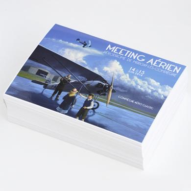 Carte postale imprimée avec pelliculage recto