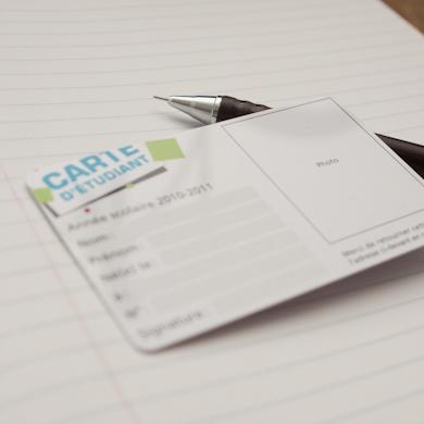 Carte PVC classique - mise en situation