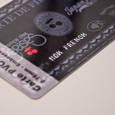 Carte RFID - zoom embossage