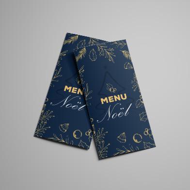 Impression menu de restaurant