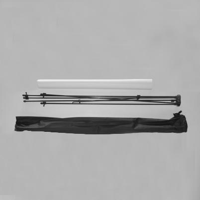 Vue de haut, contenu du sac X banner simple face imprimé 60x160