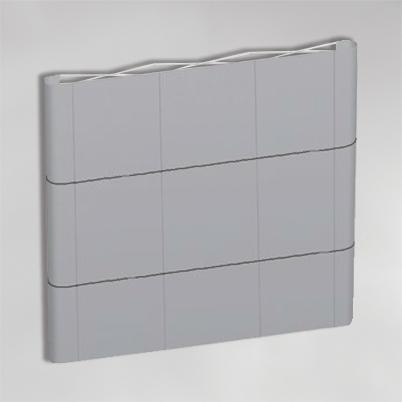 Structure pour mur d'image droit 3x3 PVC