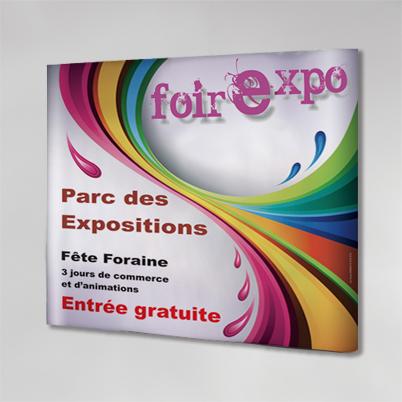 Exemple impression mur d'image droit 3x3 PVC
