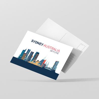 Carte postale imprimée recto verso
