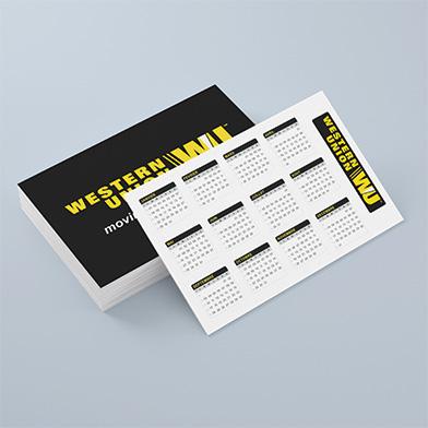 Calendrier Carte De Visite Imprime