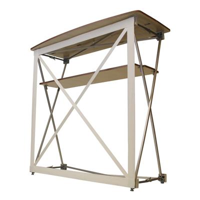 Structure du comptoir d'accueil en tissu
